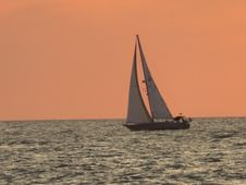 Free Sailboat, Calm, Sail, Water Transportation Royalty Free Stock Photos - 131684678