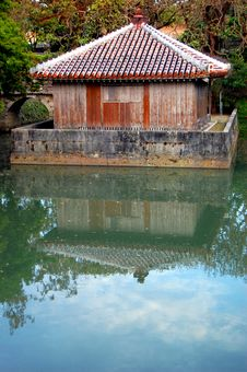 Free Japanese House In A Pond Stock Photos - 13172313