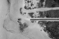 Free Grayscale Photography Of Road In Topview Stock Photography - 131719482