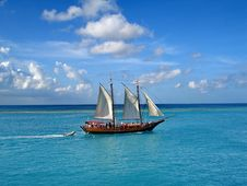 Free Sailing Ship, Sea, Water Transportation, Tall Ship Royalty Free Stock Photography - 131753827