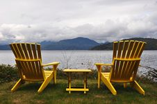 Free Empty Deck Chairs Stock Photos - 13180673