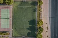 Free Aerial Photography Basketball Court Royalty Free Stock Photo - 131860105