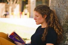 Free Photo Of Woman Reading Book Stock Images - 131860114
