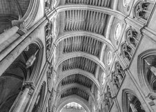 Free Grayscale Photography Of Cathedral Interior Stock Photo - 131860130