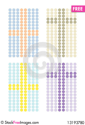 Free Set Of Simple Cross Patterns Stock Photo - 13193780