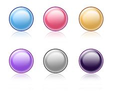 Free Website Buttons With Reflections Stock Images - 13199964