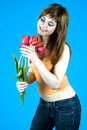 Free Teen And Tulips Royalty Free Stock Photos - 1324068