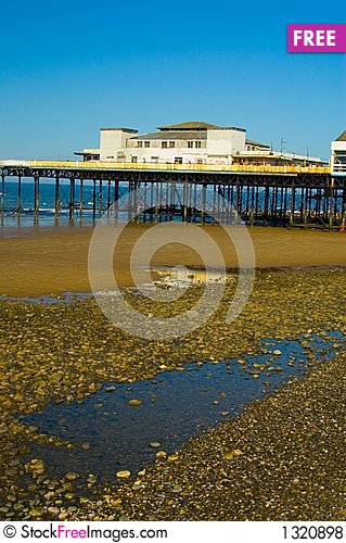 Pier and landscape Stock Photo