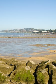 Free Rocks And Colwyn Bay Royalty Free Stock Photography - 1320927
