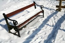 Free Winter Bench Stock Photography - 1321082