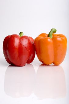 Free Orange And Red Pepper Stock Images - 1322624