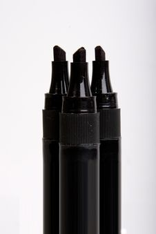 Black Marker Pens Royalty Free Stock Photography