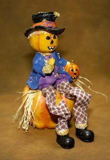 Scarecrow Decoration Royalty Free Stock Photo