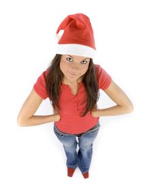 Free Young And Attractive Female Santa Royalty Free Stock Photos - 1324748