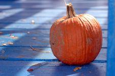 Pumpkin In Shadows Royalty Free Stock Photo