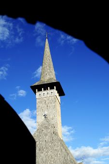 Blue Sky Church Stock Images