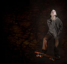 Free Skater Boy With A Cool Attitude. Grunge Style Stock Photography - 1327342
