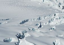 Snowcovered Glacier Royalty Free Stock Photo