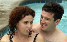 Free Couple In The Pool Royalty Free Stock Image - 1328226
