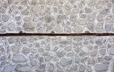 Old Mosaic Stone And Concrete Wall Stock Photos