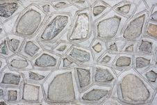 Free Old Mosaic Stone And Concrete Wall Stock Photography - 13201402