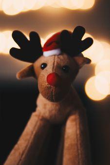 Free Rudolph Plush Toy Royalty Free Stock Image - 132036696