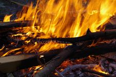 Free Fire, Flame, Campfire, Yellow Royalty Free Stock Images - 132087889