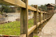 Free Walkway, Fence, Outdoor Structure, Wood Royalty Free Stock Image - 132087986