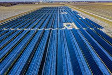Free Aerial Photography Of Blue Solar Panels Stock Photo - 132106380