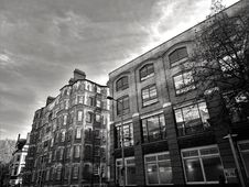 Free Black And White Photo Of Buildings Stock Images - 132106524