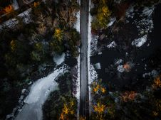Free Aerial Shot Of Road Stock Photography - 132106672