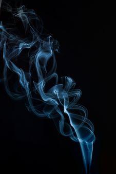 Free Blue Smoke Wallpaper Stock Photography - 132106692