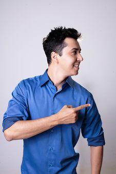 Free Blue, Standing, Dress Shirt, T Shirt Stock Images - 132187304