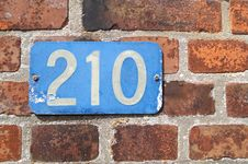 Free Wall, Brick, Number, House Numbering Stock Images - 132188264