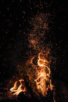 Free Nature, Flame, Fire, Darkness Stock Photography - 132188322