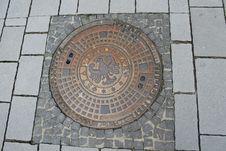 Free Manhole, Manhole Cover, Road Surface, Brickwork Stock Image - 132188461