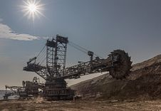 Free Sky, Mining, Machine Stock Image - 132188521