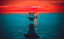 Free Sea, Tower, Beacon, Calm Stock Images - 132189014
