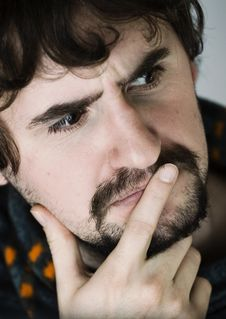 Free Portrait Of Thoughtful Young Man Royalty Free Stock Images - 13220689
