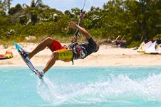 Free Man In Wakeboard Royalty Free Stock Photo - 132219265