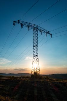 Free Sky, Electricity, Overhead Power Line, Transmission Tower Royalty Free Stock Photography - 132274267