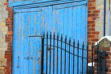 Free Blue, Wall, Gate, Door Royalty Free Stock Photo - 132351655