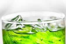 Free Clear Glass Drinking Glass Labeled With Drink With Ice Stock Images - 132386024