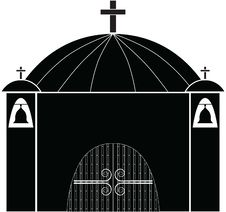 Free Church Silhouette Royalty Free Stock Photos - 13241398