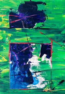 Free Photo Of Abstract Painting On Canvas Stock Image - 132670861