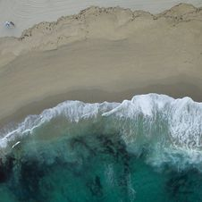 Free Top View Photo Of Seaside Royalty Free Stock Images - 132670889