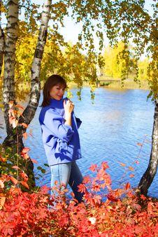 Free Girl Near The Lake Stock Image - 13271141