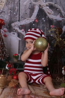 Free Christmas, Christmas Decoration, Girl, Headgear Royalty Free Stock Image - 132765996
