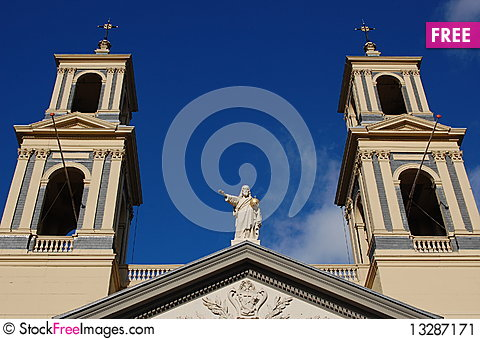 church with jesus christ Stock Photo
