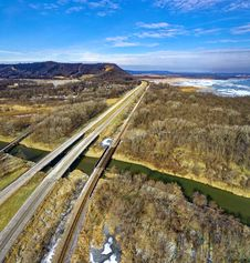 Free Bird S-eye View Photography Of Highway Stock Photography - 132859622